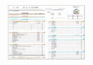 資金計画書の例