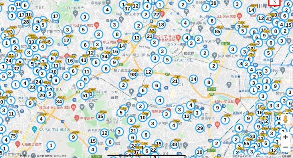 横浜市緑区の土地データ例